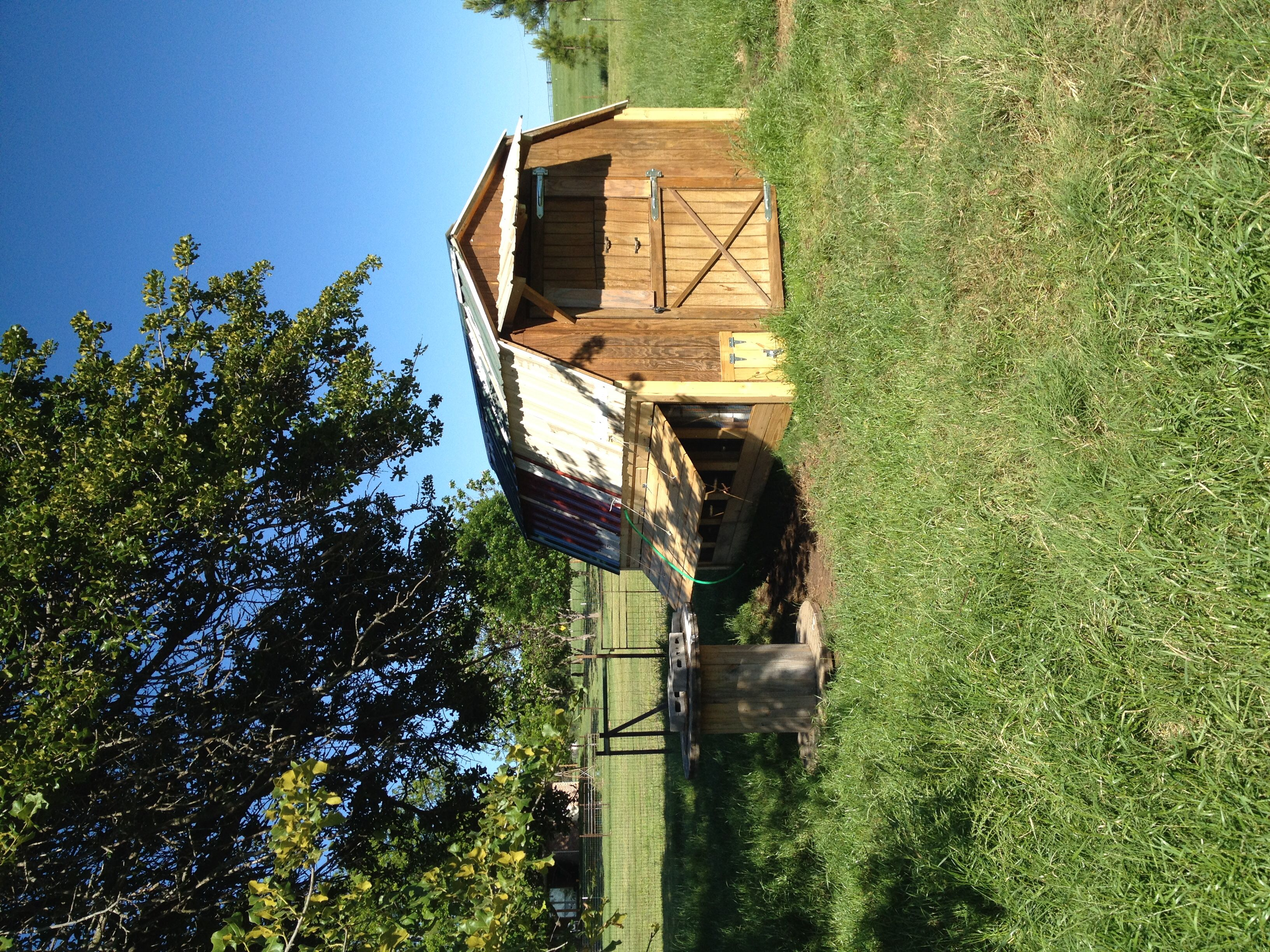 12x8 shed turned into a chicken coop - Treehouse Plans 12x8