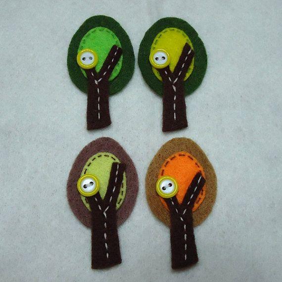 Handmade Autumn Tree Felt Applique Assorted by TRPcreativedesign01, $5.00