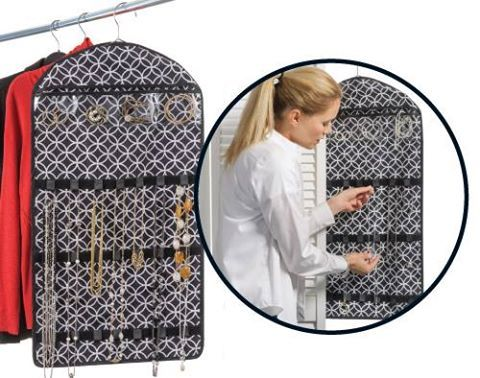 Avon Rep Tip: Are you tired of misplacing your jewelry, tangled up necklaces and messy tabletops? Our Hanging Jewelry Organizer has that problem solved! Store everything from jewelry to hair accessories with ease. Clear pockets let you see your collection! Get it for only $19.99 with every $15 purchase from our C3 Brochure.