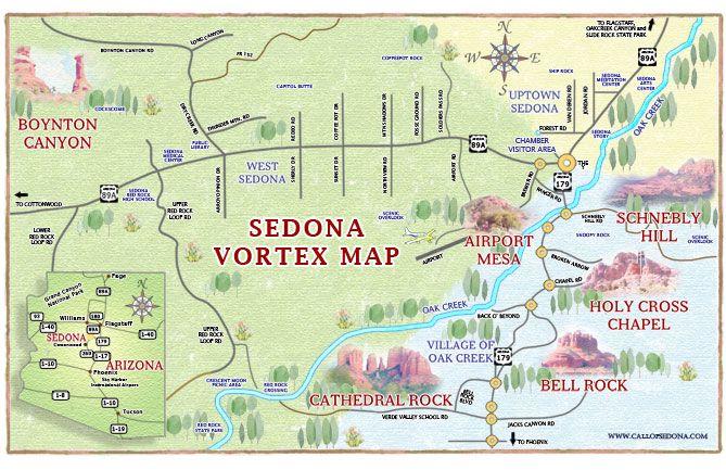 Vortex Map Of Sedona Az From The Call