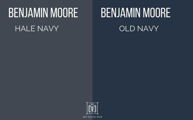 Hale Navy Vs Old Navy Paint Colors In 2019 Hale Navy
