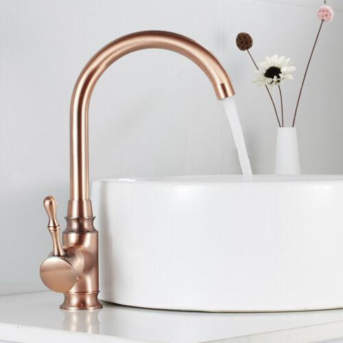 Rose Gold Bathroom Basin Taps