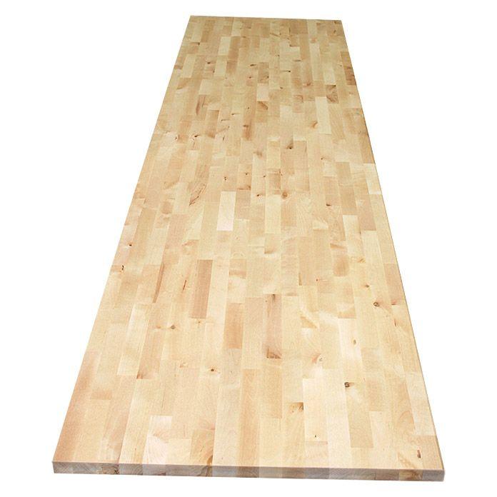 Exclusivholz Massivholzplatte Birke 260 X 63 5 X 2 7 Cm Birke Birke Holz Holz