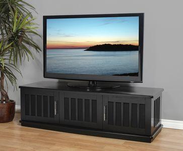 "Plateau LSX-T 62 B Wood 62"""" TV Stand in Black Oak"