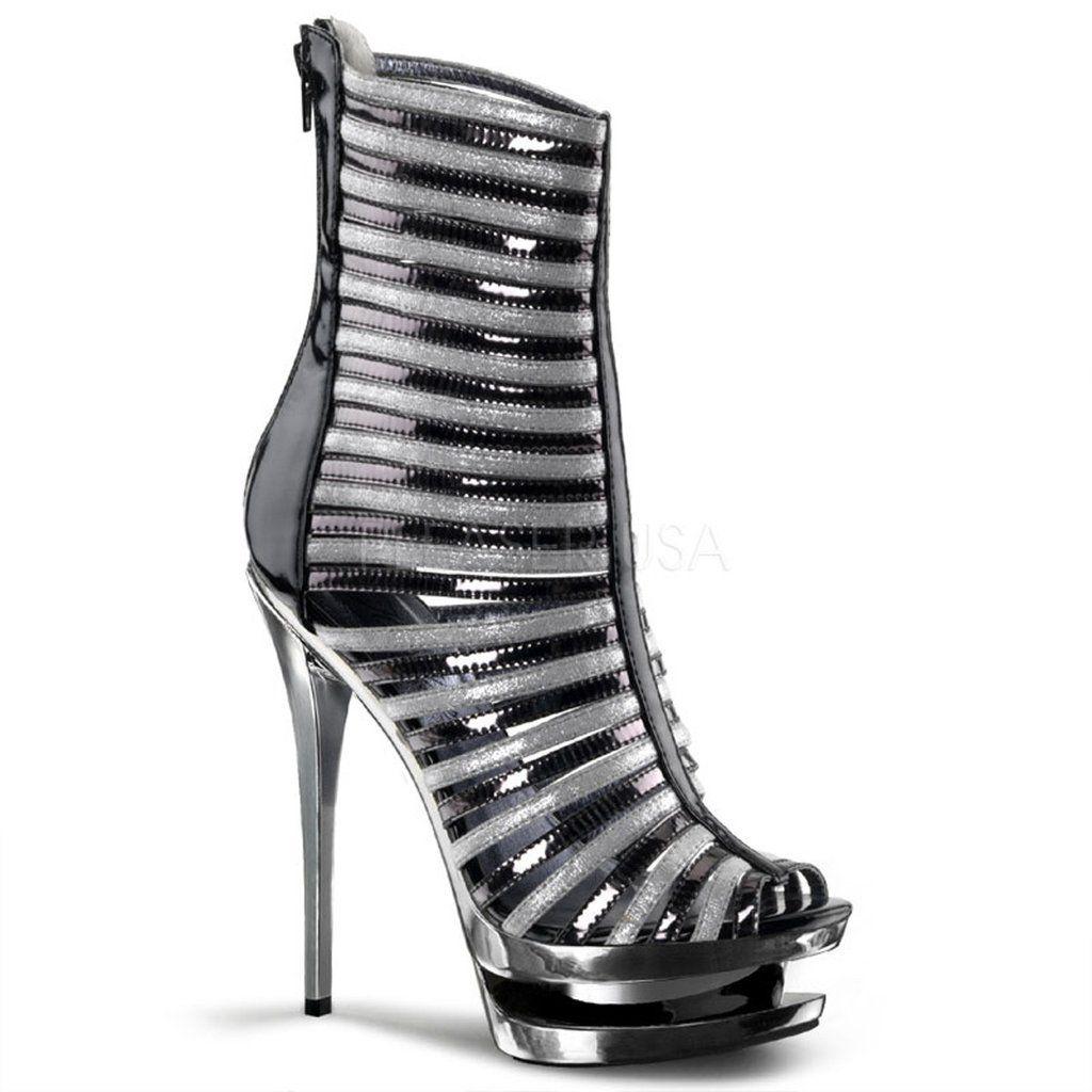 blondie660 pleaser sexy shoes 6 inch heel 1 12 inch dual
