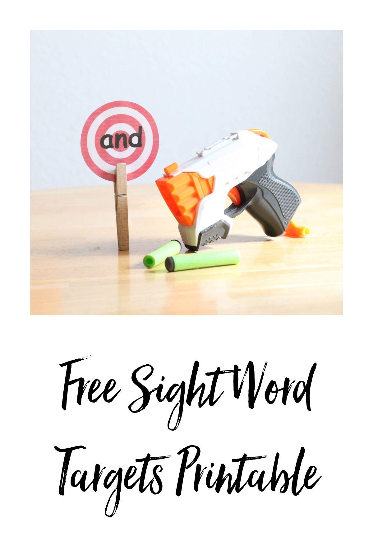 Prek Sight Word Targets Free Download