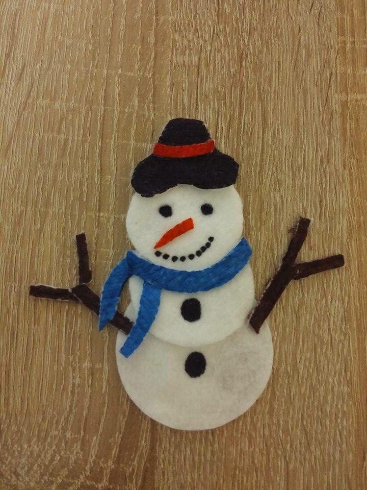 Un bonhomme de neige avec des coton d maquiller noel caboucadin - Pinterest bonhomme de neige ...