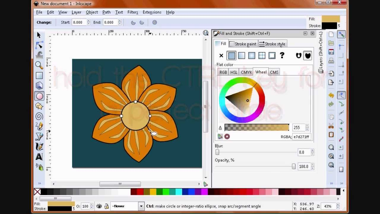 How To Create A Flower In Inkscape Create Flowers Paint Strokes