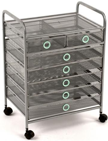 Wired 7-Drawer Cart - Rolling Storage Cart With Drawers - Storage Carts On Wheels - Rolling Cart | HomeDecorators.com  sc 1 st  Pinterest & Wired 7-Drawer Cart - Rolling Storage Cart With Drawers - Storage ...