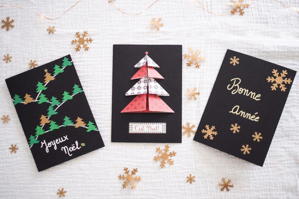 Diy Cartes De Vœux De Noel Fait Main Carte De Voeux Noel