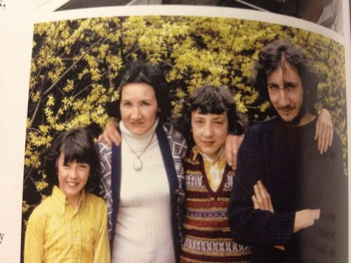 pete with his mum, betty townshend, and brothers simon and paul
