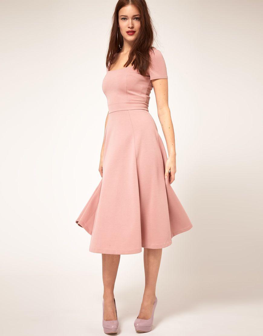 Square neck midi dress. So simple, so feminine. $81 | STYLE ...