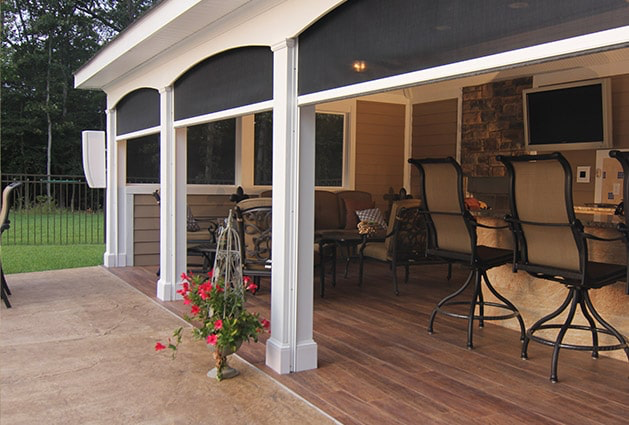 Pull Down Retractable Screens Patio Shade Retractable Screen Porch Screened In Patio