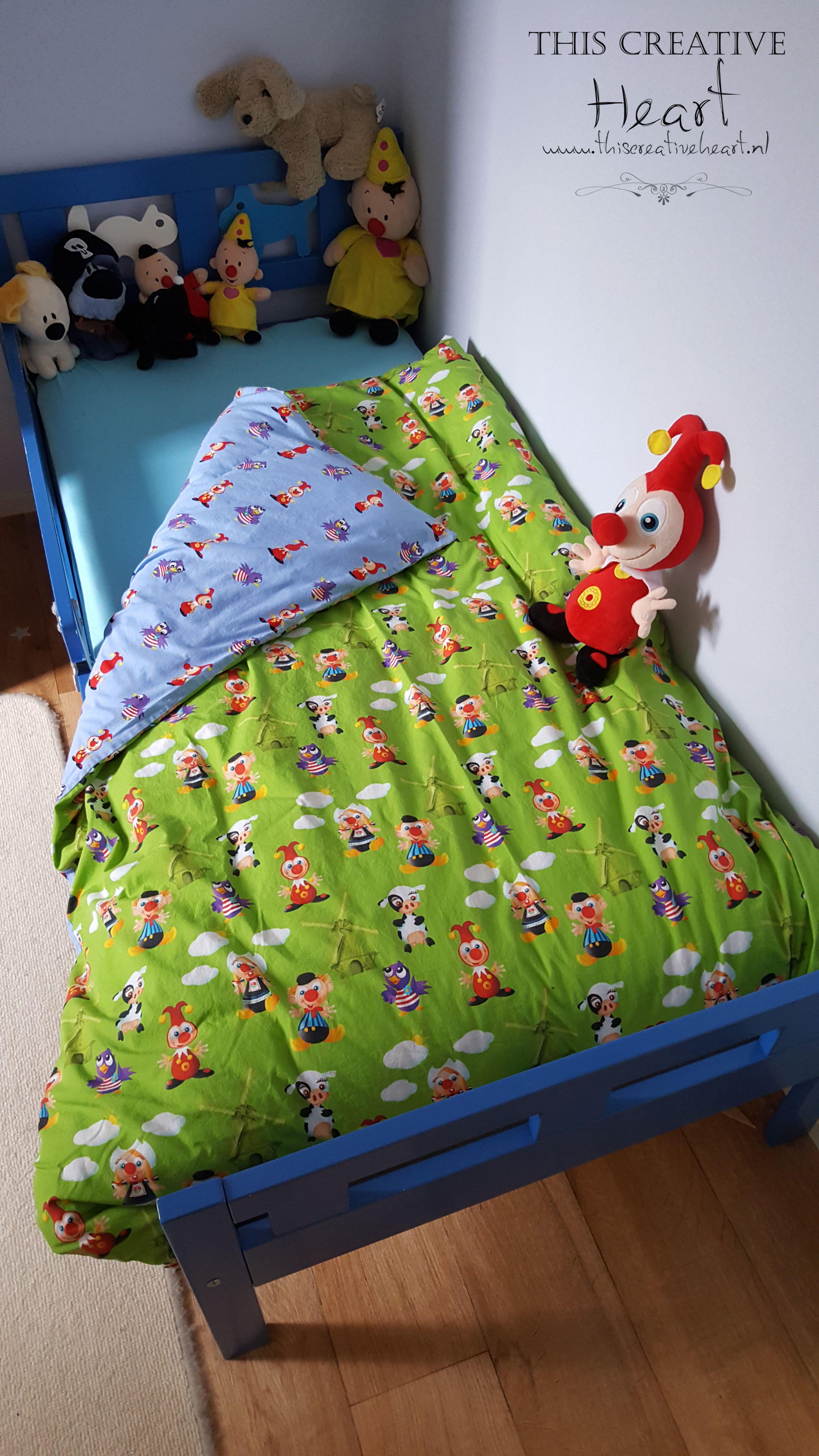 Joki en Jet dekbedovertrek Stof van de Efteling textielstad Made for my son turned 3 I m not aloud to wash it that s how much he is in love with