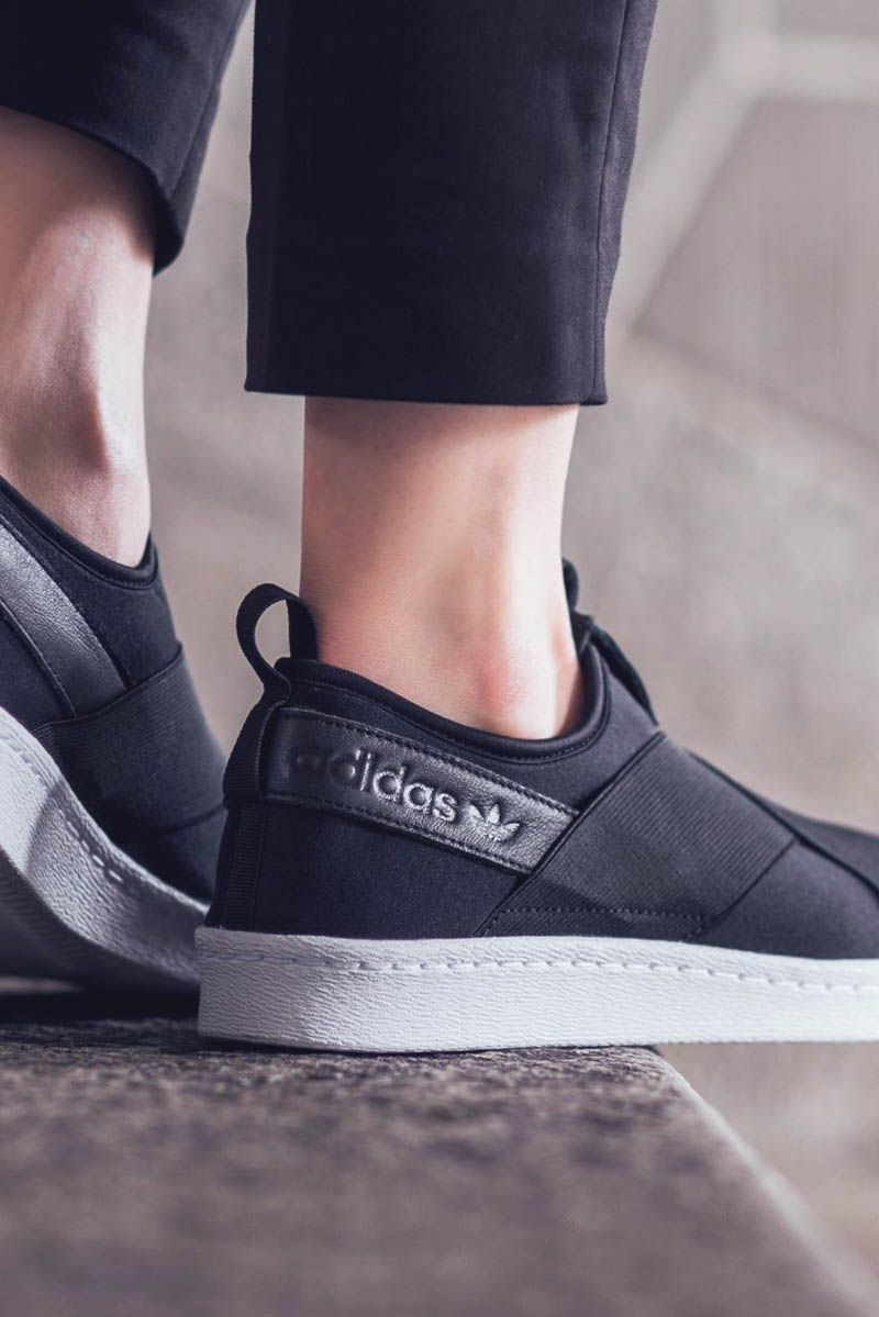 adidas superstar slip on men Black
