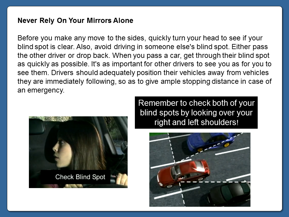 Never Rely On Your Mirrors Alone Module 6 Login Page Rely On