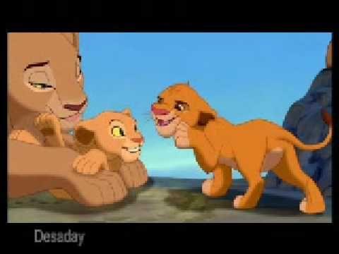 Lion King Simba And Nala Kissing The lion king