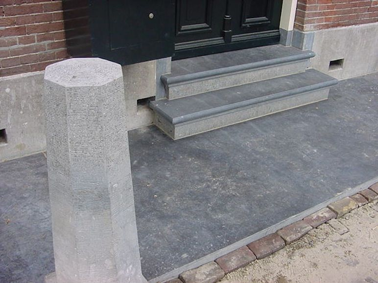 Stoep bordes trap harder natuursteen huis pinterest for Buitentrap met bordes