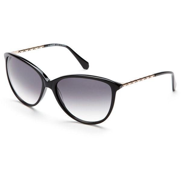 55ca68b3ba370 Balmain Black BL2085 Cat Eye Sunglasses ( 80) ❤ liked on Polyvore featuring  accessories