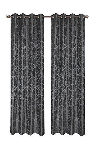 Calitime Window Curtains Panels 55 X 84 Inches Modern Circles