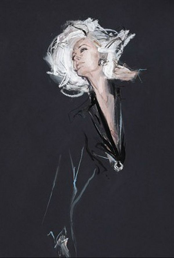 Photo of Fashion Illustrations by David Downton   Cuded