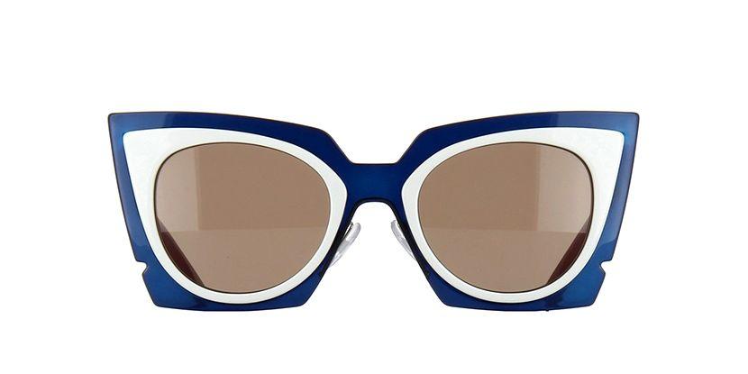 7f860fbe864a Fendi FF0117S IC4 UT Turqoise and White Sunglasses
