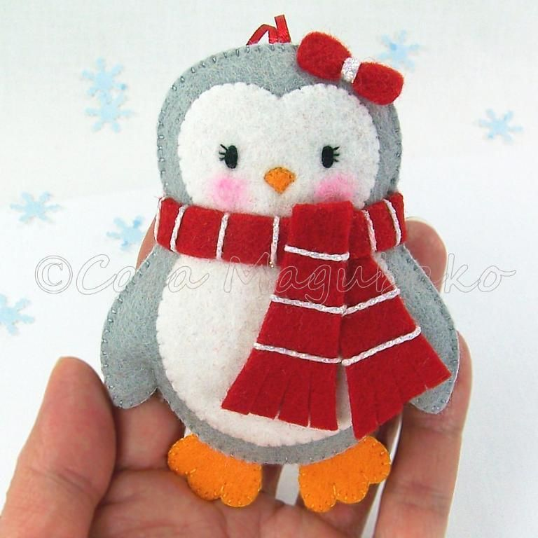 Felt Penguin Sewing Pattern - 3 Sizes by Casa Magubako - Craftsy ...