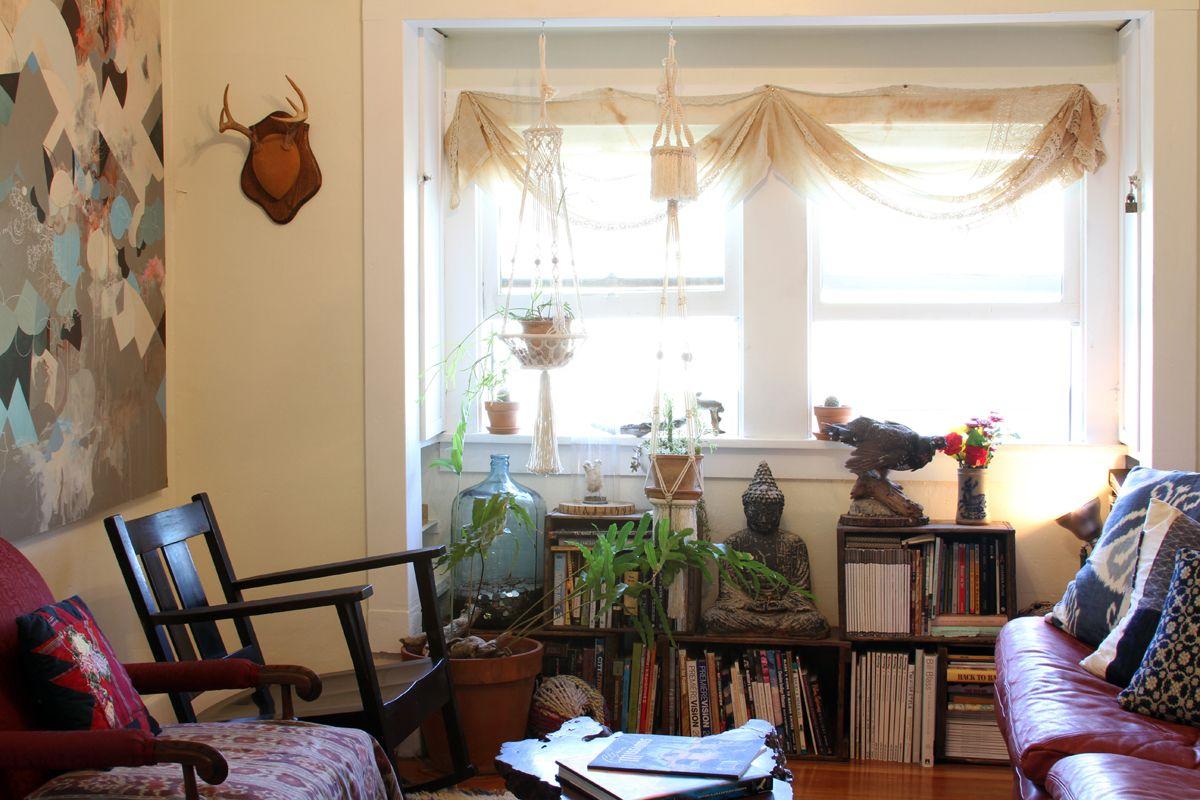Janelle & Robert's East/West Coast Mix Boho living room