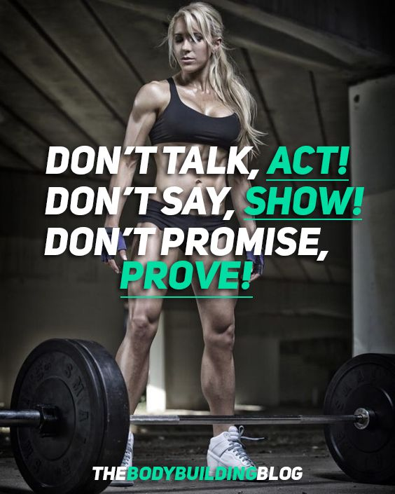 Female fitness motivation.