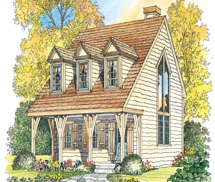 Eplans Gothic Revival House Plan Curved Hearth Fireplace 1065 Square Feet And 1 Bedroom Small Cottage Homes Victorian House Plans Small Cottage House Plans