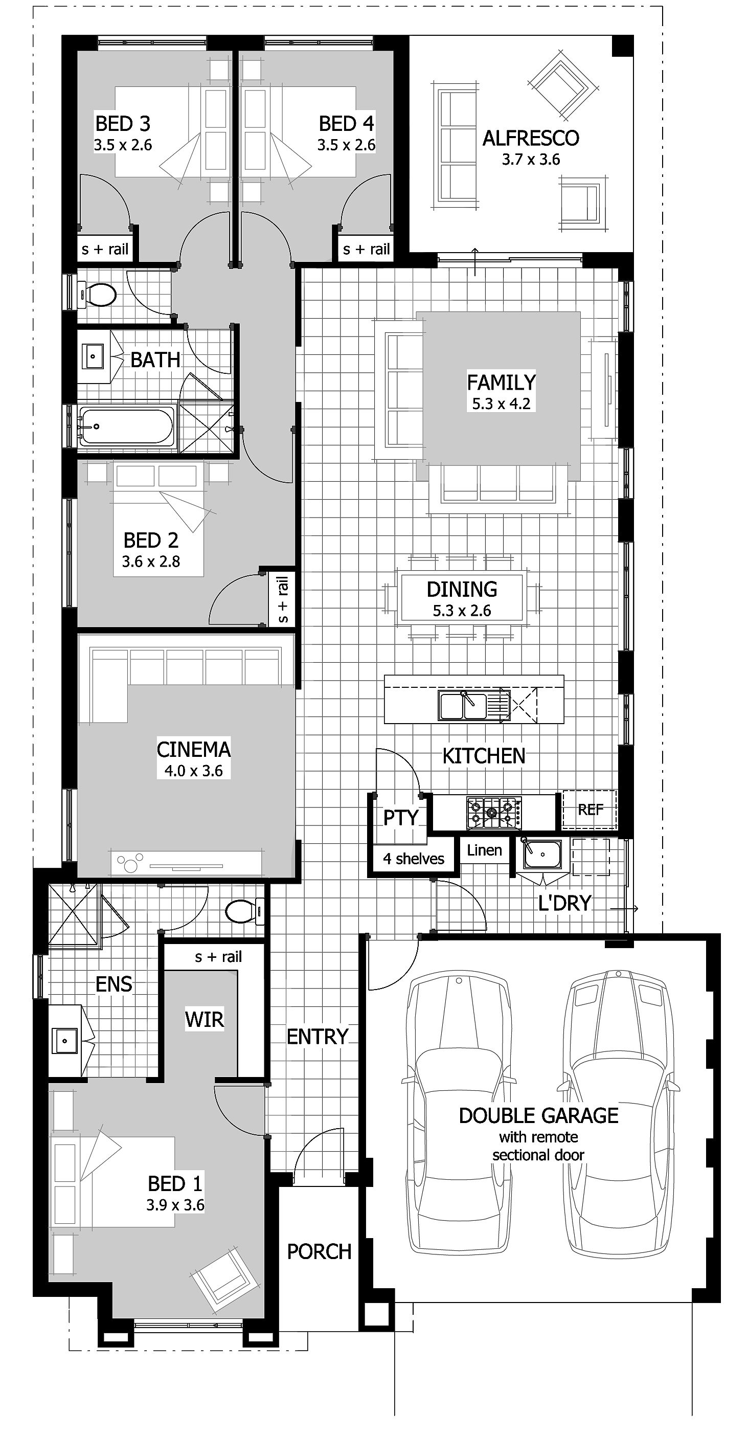 Home And Land Packages Celebration Homes Small Villa Floor Plans Bedroom House Plans