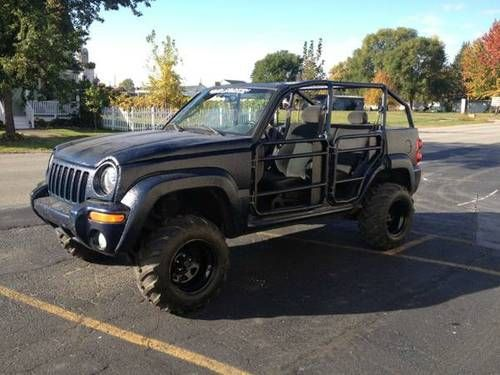 2002 Jeep Liberty Custom Convertible Lifted 4x4 Offroad Us 7 800 00 Image 4 Autos Vehiculos Vehiculos 4x4