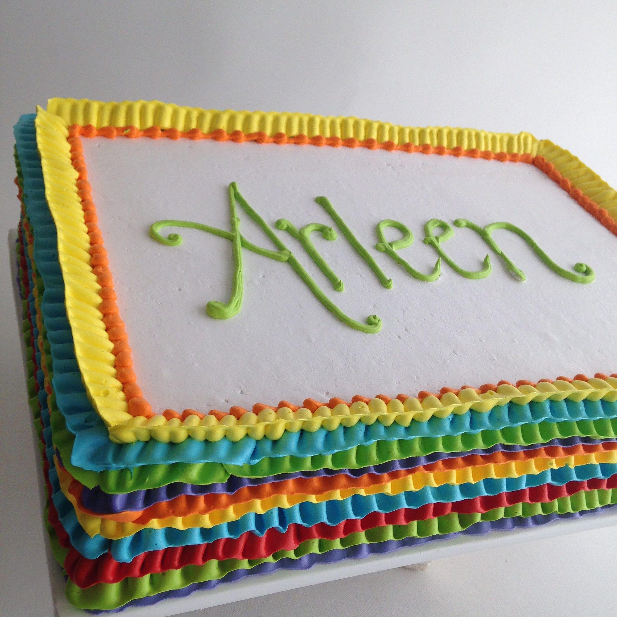 Rainbow Marble Cake