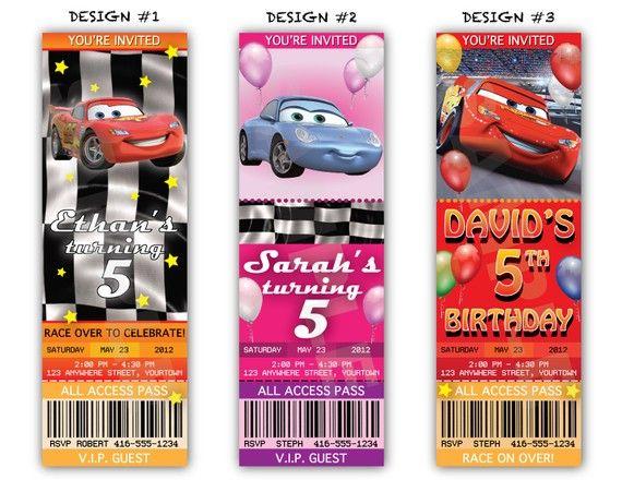 free printable cars invitations birthday