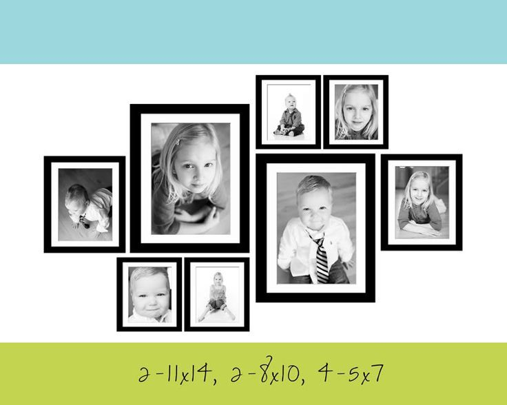 2 11x14 2 8x10 4 5x7 Better Visual Gallery Wall Layout Gallery Wall Photo Wall Gallery