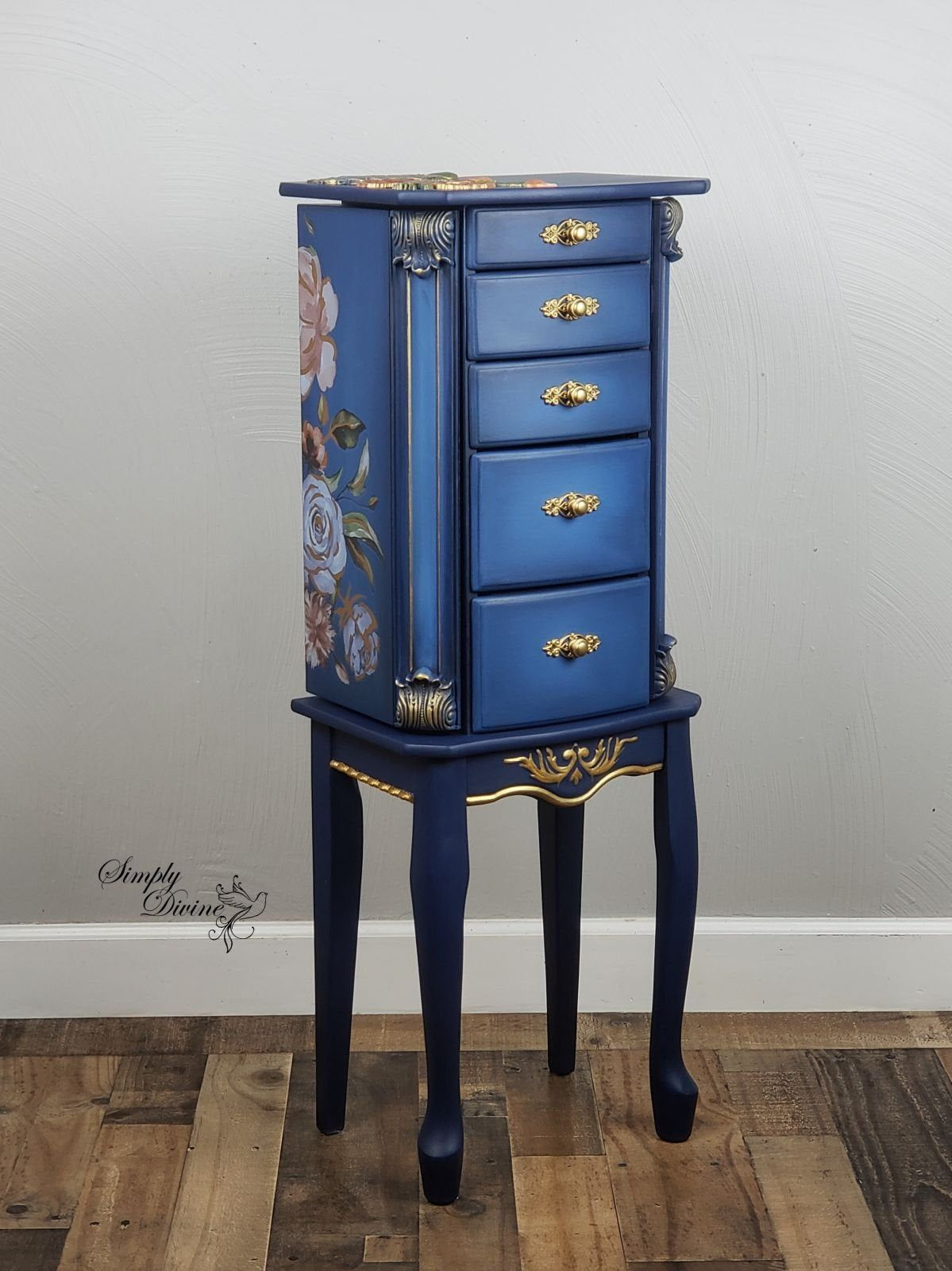 Petite Jewelry Armoire Etsy Painted Jewelry Armoire Jewelry Armoire Makeover Recycled Furniture