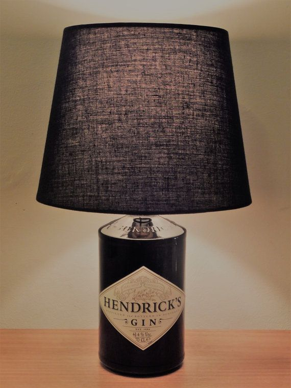 Hendricks Gin 70cl Upcycled Spirit Bottle Lamp Birthday In 2019 Lamp Shades Light Decorations