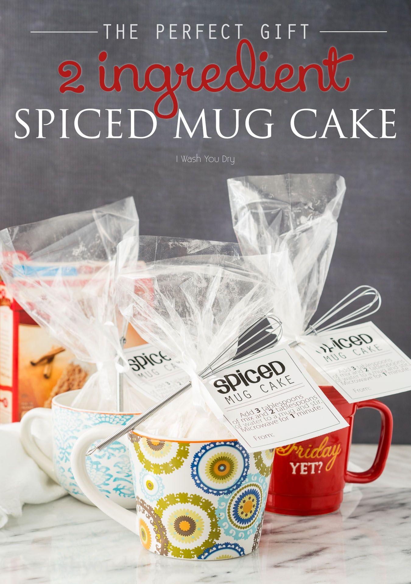 2 Ingredient Spiced Mug Cake | Recipe | Mug recipes, Gift ...