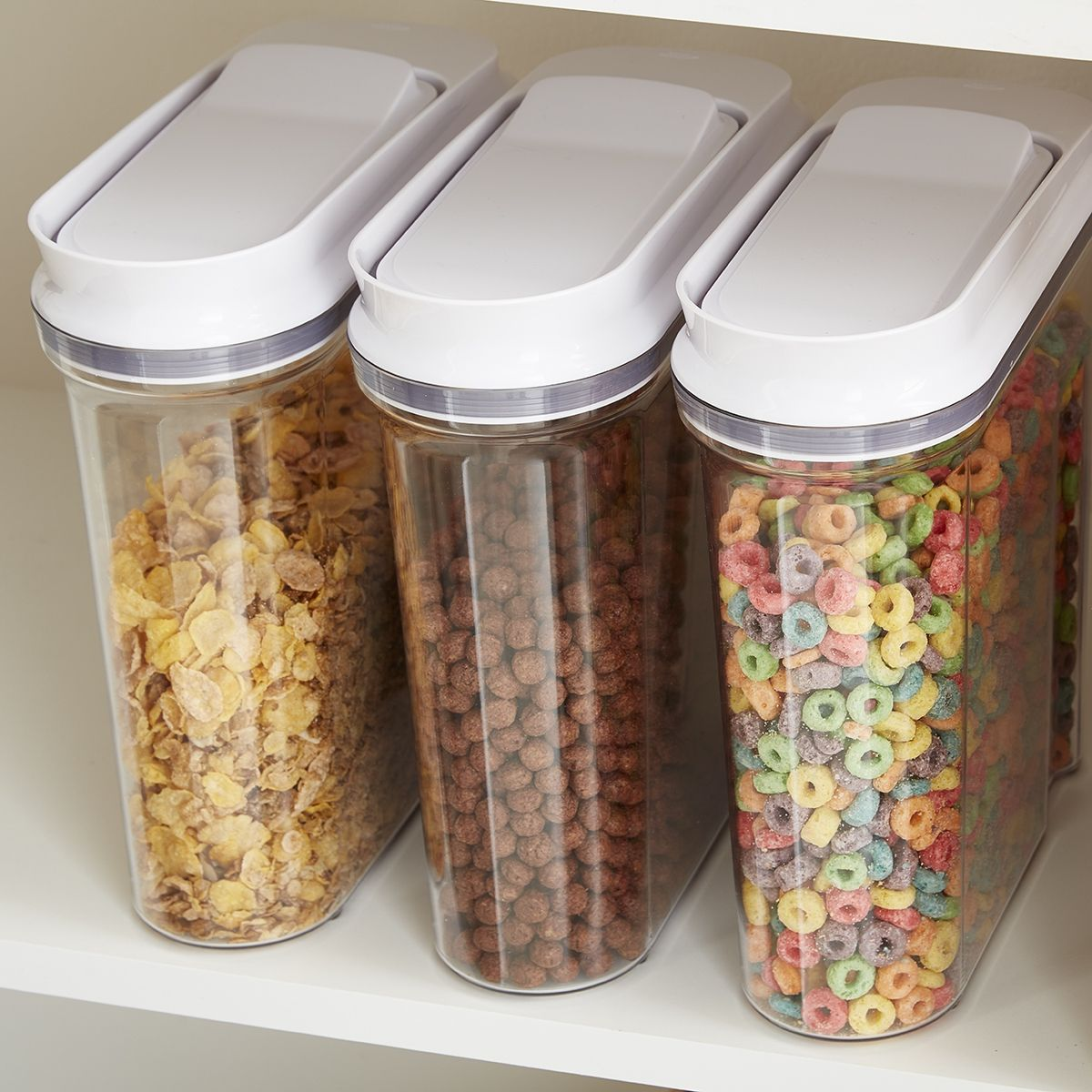 The Best Cereal Is Fresh Cereal Clear Containers Let You Know How