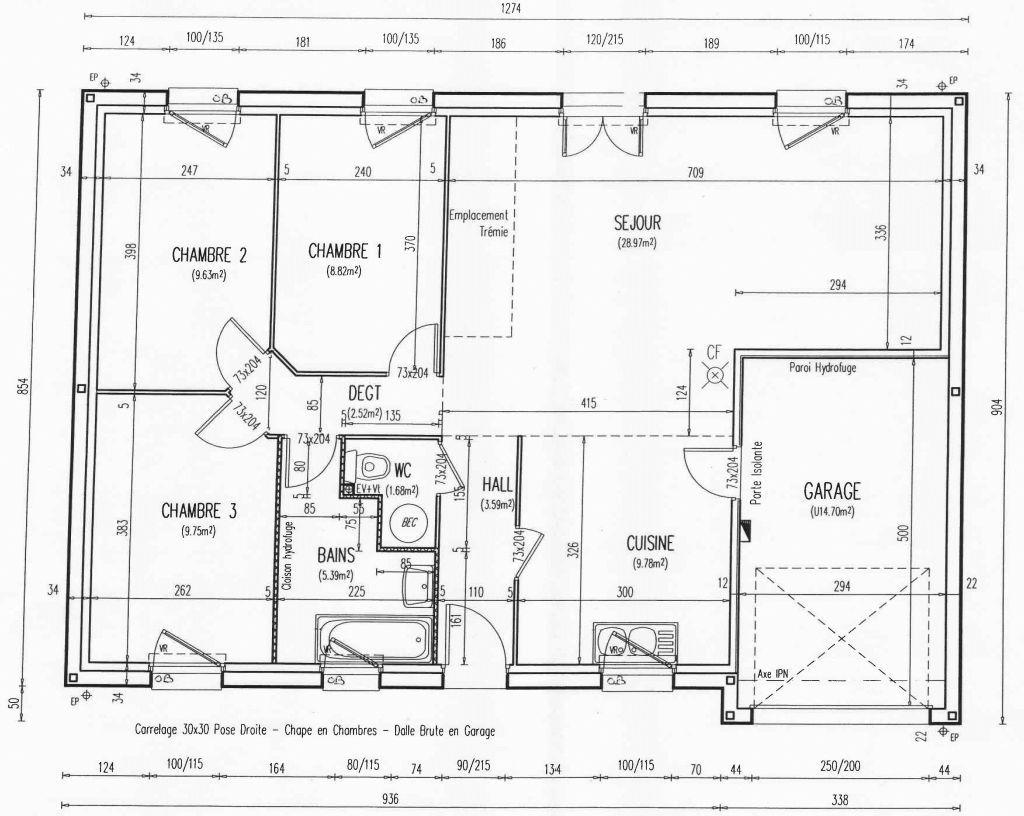 plan maison trecobat cheap maison interieur maison bois trecobat with plan maison trecobat. Black Bedroom Furniture Sets. Home Design Ideas