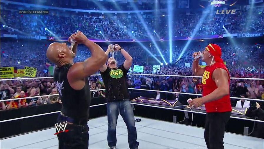 Dwayne The Rock Johnson Stone Cold Steve Austin Hulk Hogan