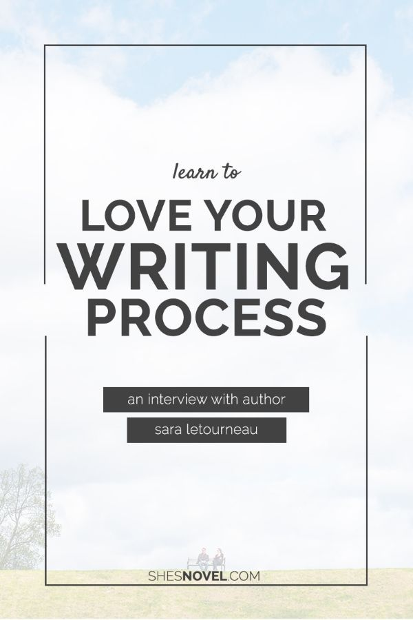 Learn To Love Your Writing Process   Do you struggle with embracing your writing process? Check out this interview with blogger and fantasy writer Sara Letourneau on how to love your writing process.