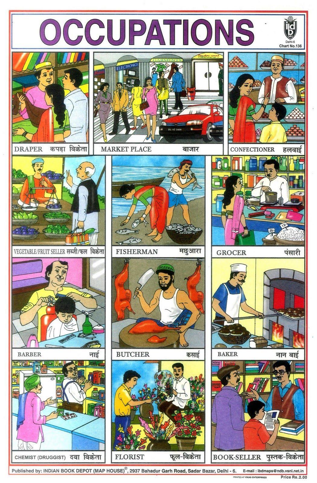 Occupations Via Indian Book Dealer