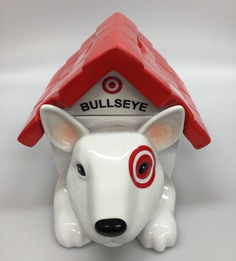 Target Bullseye Dog Cookie Jar In Dog House Store Employee