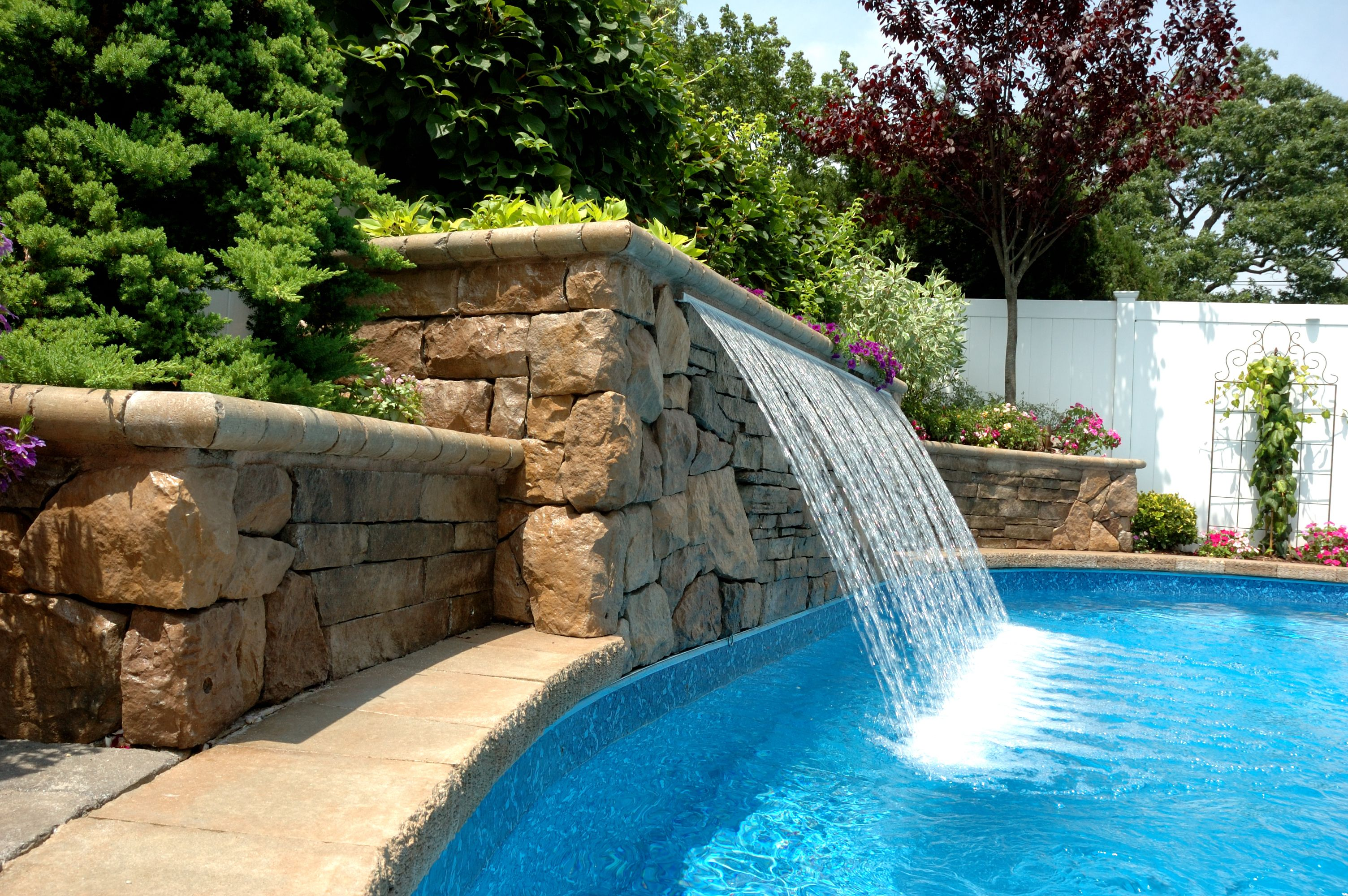 Sheer Descent Rain Water Feature Pool Water Features Pool