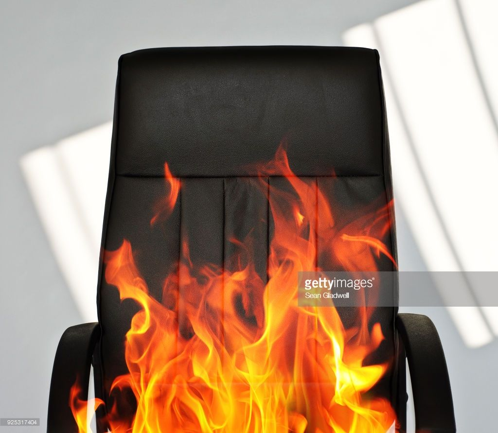 Conceptual Photo Of A Black Office Chair On Fire Black Office Chair Conceptual Photo Office Chair