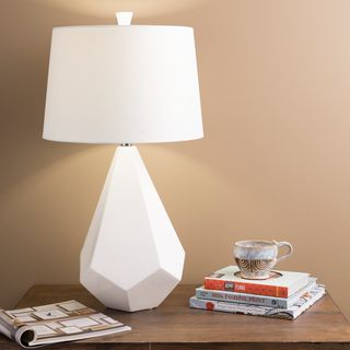 white 28inch high modern table lamp overstock shopping great deals on table