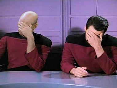 Star Trek Face Palms Captain Picard Star Trek Star Trek Enterprise