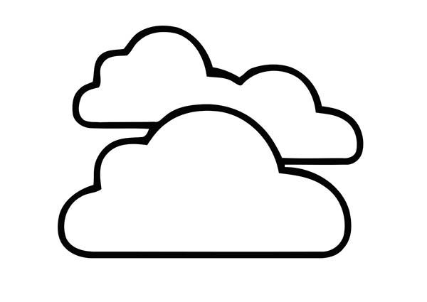 Clouds Clouds In The Sky Coloring Page
