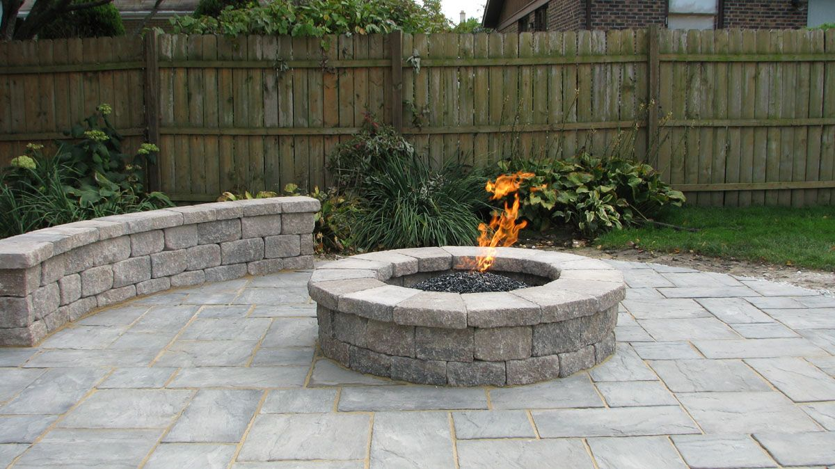 Captivating Outdoor Built In Gas Fireplace   Fire Pits And Outdoor Fireplaces Can  Operate On Natural Gas